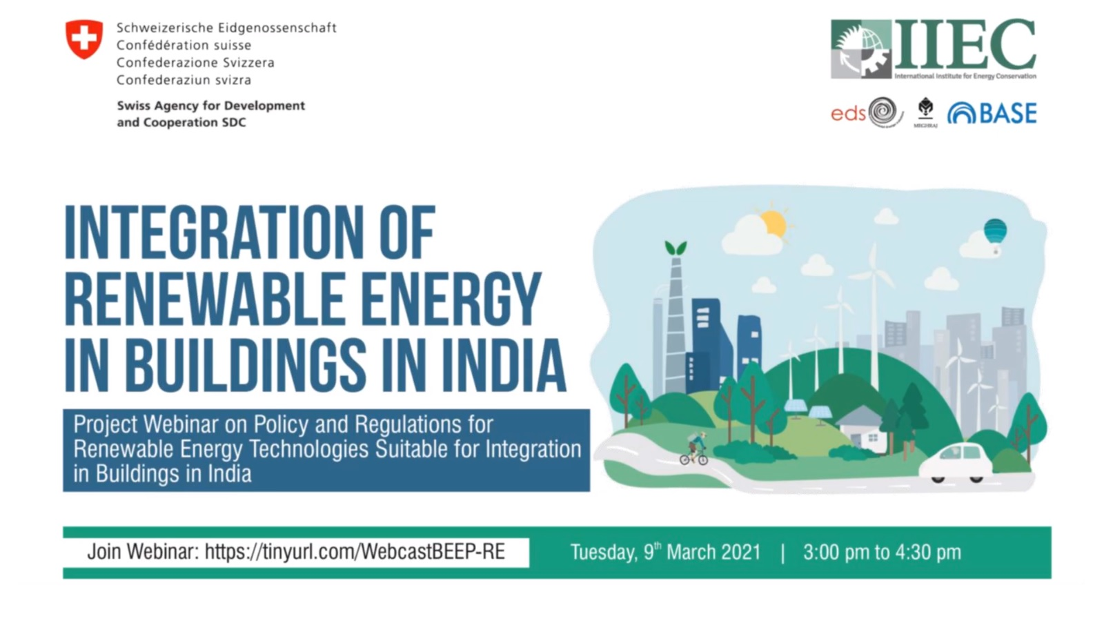 Webinar - Policy and Regulations for RE Technologies Suitable for Integration in Buildings in India